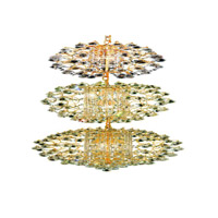Elegant Lighting St. Ives 21 Light Chandelier in Gold with Royal Cut Clear Crystals 8064G24G/RC