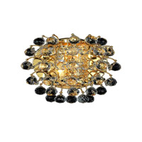 Elegant Lighting St. Ives 2 Light Wall Sconce in Gold with Royal Cut Clear Crystals 8064W10G/RC photo thumbnail