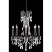 Elegant Lighting Rosalia 8 Light Dining Chandelier in Dark Bronze with Swarovski Strass Clear Crystal 8208D24DB/SS