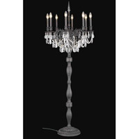 Elegant Lighting Rosalia 8 Light Floor Lamp in Dark Bronze with Royal Cut Clear Crystal 8208FL24DB/RC