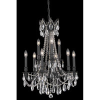 Elegant Lighting Rosalia 9 Light Dining Chandelier in Dark Bronze with Elegant Cut Clear Crystal 8209D23DB/EC
