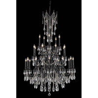 Elegant Lighting Rosalia 25 Light Foyer in Dark Bronze with Royal Cut Clear Crystal 8225G38DB/RC