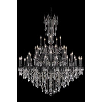 Elegant Lighting Rosalia 45 Light Foyer in Dark Bronze with Elegant Cut Clear Crystal 8245G54DB/EC