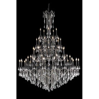 Elegant Lighting Rosalia 55 Light Foyer in Dark Bronze with Royal Cut Clear Crystal 8255G64DB/RC