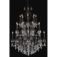Elegant Lighting Marseille 24 Light Foyer in Dark Bronze with Swarovski Strass Clear Crystal 8524G38DB/SS