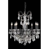 Elegant Lighting Athena 8 Light Dining Chandelier in Dark Bronze with Elegant Cut Clear Crystal 8708D24DB/EC