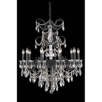 Elegant Lighting Athena 10 Light Dining Chandelier in Dark Bronze with Elegant Cut Clear Crystal 8710D29DB/EC