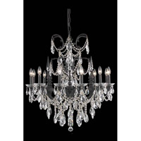 Elegant Lighting Athena 12 Light Dining Chandelier in Dark Bronze with Elegant Cut Clear Crystal 8712D32DB/EC
