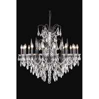 Elegant Lighting Athena 16 Light Foyer in Dark Bronze with Royal Cut Clear Crystal 8716G35DB/RC
