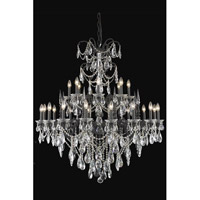 Elegant Lighting Athena 24 Light Foyer in Dark Bronze with Swarovski Strass Clear Crystal 8724G44DB/SS