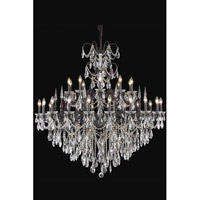 Elegant Lighting Athena 30 Light Chandelier in Dark Bronze with Swarovski Elements Clear Crystal 8730G53DB/SS