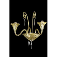 Elegant Lighting 8802W24YW/EC Symphony 2 Light 24 inch Yellow Wall Lamp Wall Light in Elegant Cut