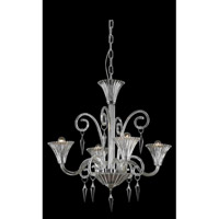 Elegant Lighting Symphony 4 Light Chandelier in Clear with Swarovski Elements Clear Crystal 8804D28CL/SS