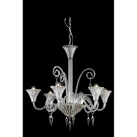 Elegant Lighting Symphony 6 Light Chandelier in Clear with Swarovski Elements Clear Crystal 8806D32CL/SS
