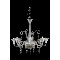 Symphony 8 Light 37 inch Clear Chandelier Ceiling Light in Elegant Cut
