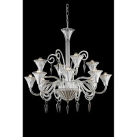 Elegant Lighting Symphony 12 Light Chandelier in Clear with Elegant Cut Clear Crystal 8812D37CL/EC