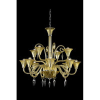 Elegant Lighting 8812D37YW/EC Symphony 12 Light 37 inch Yellow Chandelier Ceiling Light in Elegant Cut