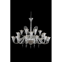 Elegant Lighting Symphony 24 Light Chandelier in Clear with Swarovski Elements Clear Crystal 8824G49CL/SS