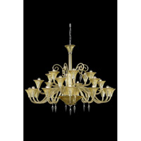 Elegant Lighting Symphony 24 Light Chandelier in Yellow with Swarovski Elements Clear Crystal 8824G49YW/SS