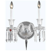 Elegant Lighting Majestic 2 Light Wall Sconce in Chrome with Elegant Cut Clear Crystal 8902W20C/EC - Open Box