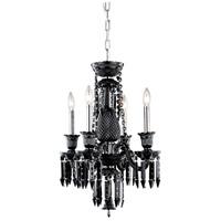 Elegant Lighting 8904D17B-JT/EC Majestic 4 Light 17 inch Black Pendant Ceiling Light in Jet Black