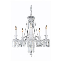 Elegant Lighting 8905D27SC/EC Majestic 5 Light 27 inch Silver and Clear Mirror Dining Chandelier Ceiling Light