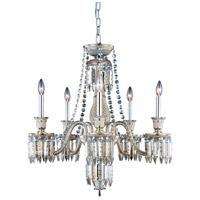 Elegant Lighting 8905D27SGT-GT/EC Majestic 5 Light 27 inch Golden Teak Dining Chandelier Ceiling Light