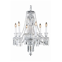 Majestic 6 Light 24 inch Chrome Dining Chandelier Ceiling Light in Clear