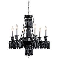Elegant Lighting 8906D27SB-JT/EC Majestic 6 Light 27 inch Black Dining Chandelier Ceiling Light in Jet Black
