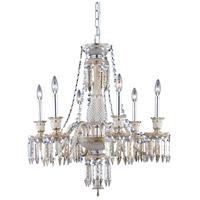 Elegant Lighting 8906D27SGT-GT/EC Majestic 6 Light 27 inch Golden Teak Dining Chandelier Ceiling Light