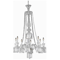 Majestic 8 Light 32 inch Chrome Dining Chandelier Ceiling Light in Clear, (None)