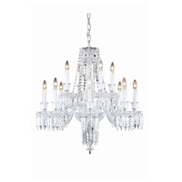 Elegant Lighting Majestic 12 Light Dining Chandelier in Chrome with Elegant Cut Clear Crystal 8912D32C/EC
