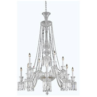 Elegant Lighting Majestic 12 Light Foyer Pendant in Chrome with Elegant Cut Clear Crystal 8912D42C/EC