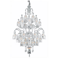 Elegant Lighting Majestic 42 Light Foyer in Chrome with Elegant Cut Clear Crystal 8913G54C/EC
