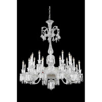 Majestic 24 Light 44 inch Chrome Foyer Ceiling Light in Clear, (None)