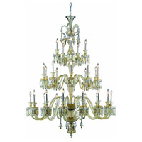 Majestic 42 Light 54 inch Golden Teak Chandelier Ceiling Light