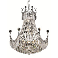 Elegant Lighting Corona 9 Light Dining Chandelier in Chrome with Spectra Swarovski Clear Crystal 8949D20C/SA alternative photo thumbnail