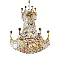 Elegant Lighting Corona 9 Light Dining Chandelier in Gold with Royal Cut Clear Crystal 8949D20G/RC alternative photo thumbnail