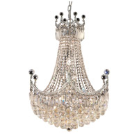 Elegant Lighting Corona 18 Light Dining Chandelier in Chrome with Elegant Cut Clear Crystal 8949D24C/EC