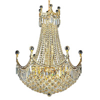 Elegant Lighting Corona 18 Light Dining Chandelier in Gold with Royal Cut Clear Crystal 8949D24G/RC alternative photo thumbnail