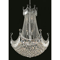 Elegant Lighting V8949D30C/SS Corona 24 Light 30 inch Chrome Dining Chandelier Ceiling Light in Swarovski Strass alternative photo thumbnail
