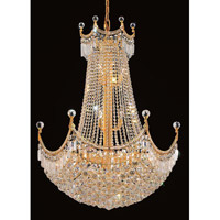 Elegant Lighting Corona 24 Light Dining Chandelier in Gold with Swarovski Strass Clear Crystal 8949D30G/SS alternative photo thumbnail