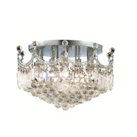 Elegant Lighting Corona 9 Light Flush Mount in Chrome with Swarovski Strass Clear Crystal 8949F20C/SS alternative photo thumbnail
