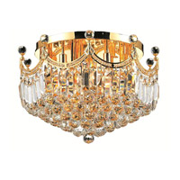 Elegant Lighting Corona 9 Light Flush Mount in Gold with Royal Cut Clear Crystal 8949F20G/RC alternative photo thumbnail