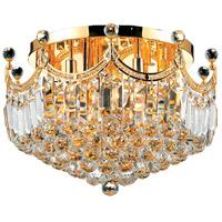 Elegant Lighting V8949F20G/EC Corona 9 Light 20 inch Gold Flush Mount Ceiling Light in Elegant Cut