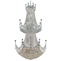 Elegant Lighting Corona 36 Light Foyer in Chrome with Elegant Cut Clear Crystal 8949G36C/EC