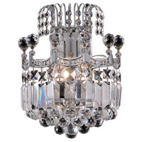Elegant Lighting Corona 2 Light Wall Sconce in Chrome with Swarovski Strass Clear Crystal 8949W12C/SS