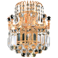 Elegant Lighting Corona 2 Light Wall Sconce in Gold with Elegant Cut Clear Crystal 8949W12G/EC