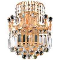 Elegant Lighting V8949W12G/SS Corona 2 Light 12 inch Gold Wall Sconce Wall Light in Swarovski Strass