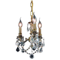 Lillie 3 Light 10 inch Antique Bronze Pendant Ceiling Light in Clear, Royal Cut